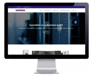 Pantallazo pagina web Davena
