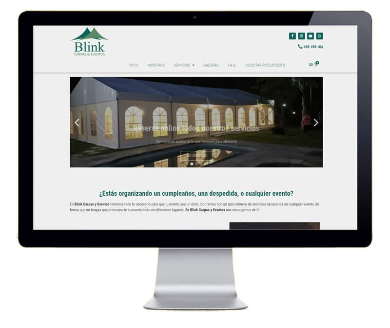 Diseño web empresa de alquiler de material