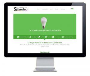 Diseño tienda online SilverLed Uruguay