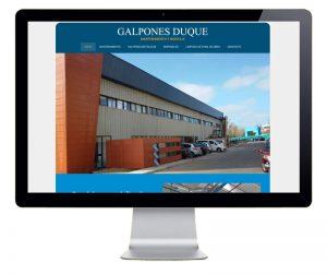 Diseño web con sección de productos dinámica