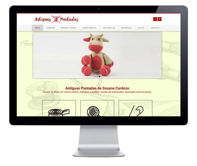 Diseño web prendas hechas a mano