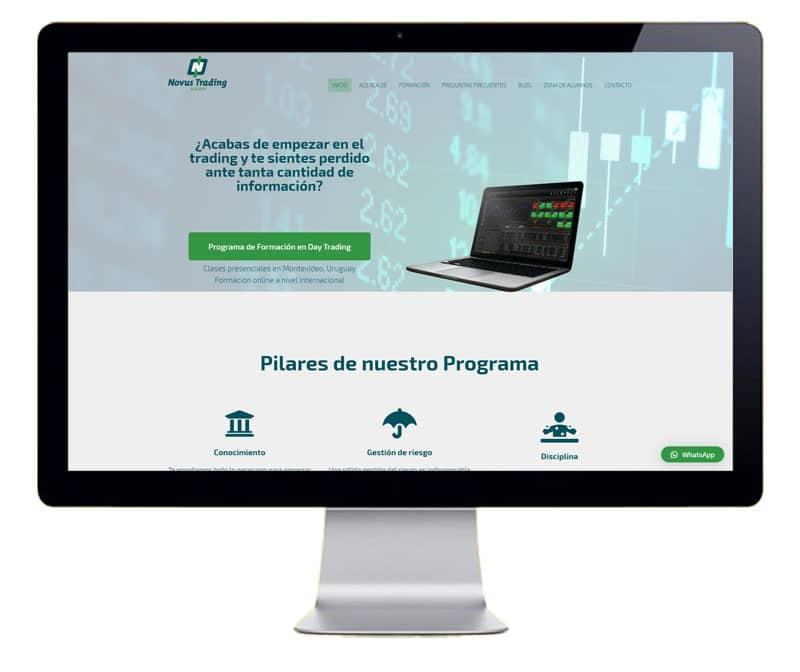 Diseño web servicio de formación