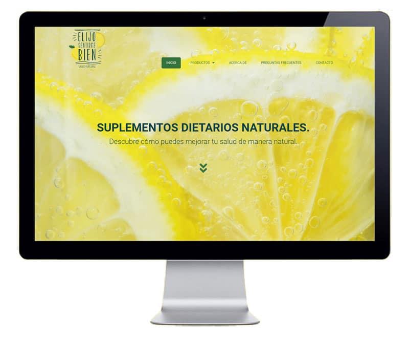 Sitio web de productos naturales
