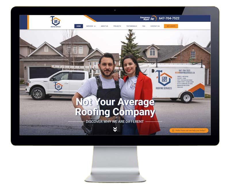Diseño de pagina web para empresa de servicios