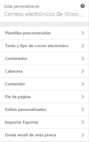Personalizar las notificaciones de tu tienda online desde el panel de control de woocommerce