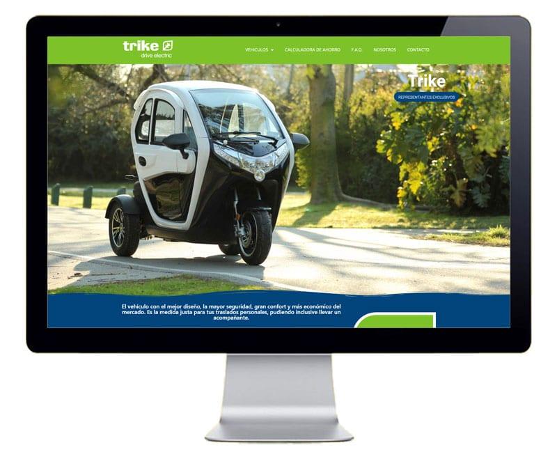 Diseño web marca vehículos eléctricos