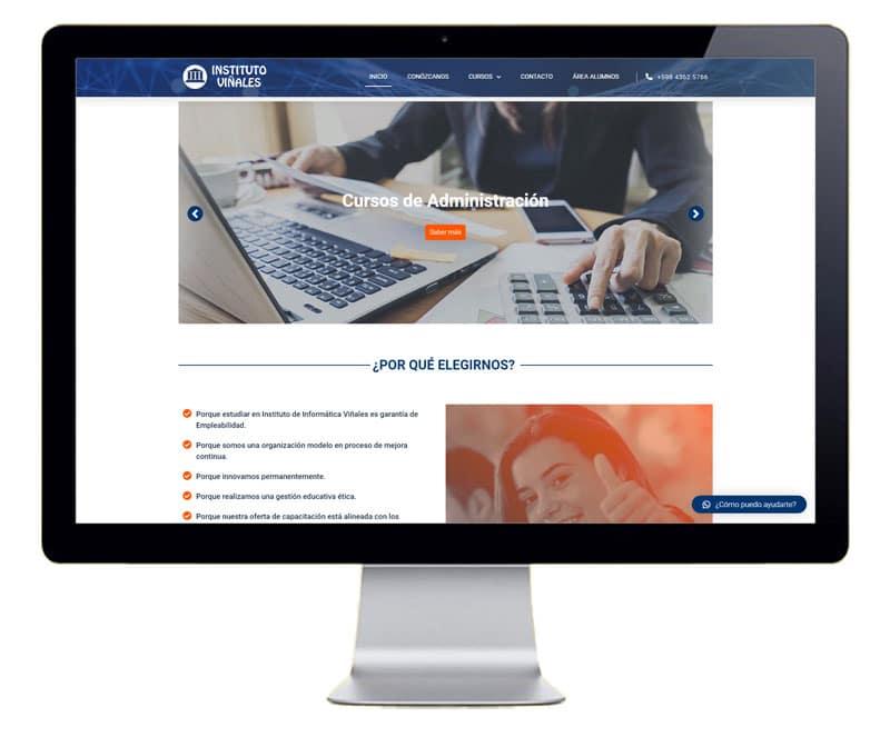 Diseño web Instituto de enseñanza